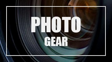 """Image of a lens with the title 'Photo Gear"""""""