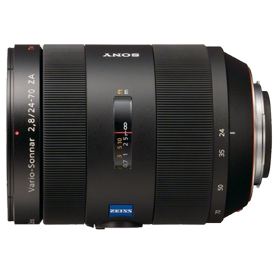 Side view of Sony Zeiss 2470 lens