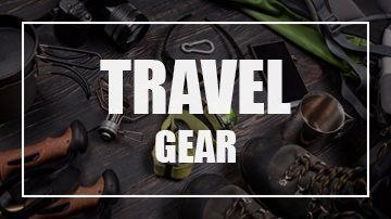 Image for Travel Gear showing travel accessories as a backdrop
