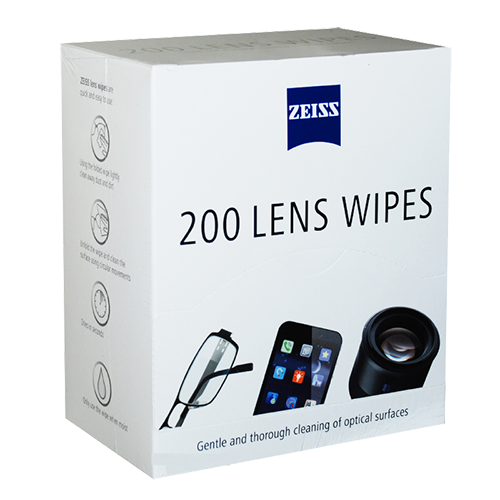 Image of box of 200 Zeiss Lens Wipes