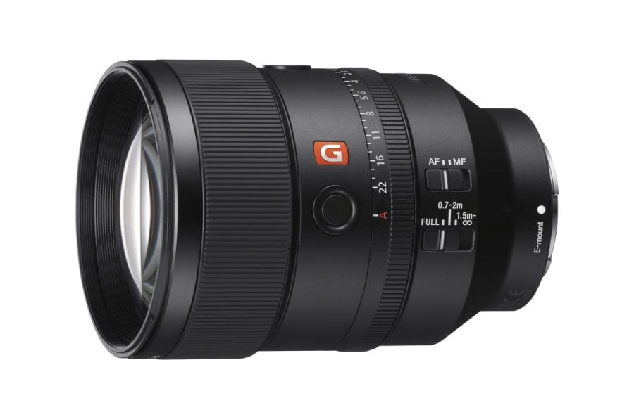 Image of sony-135f18G lens on white background